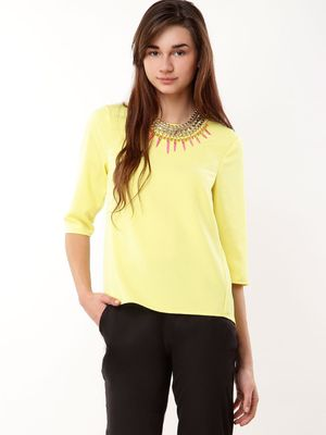 Warehouse Elbow Sleeve Top