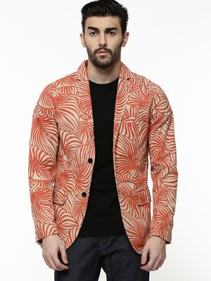 KOOVS Overdyed Tropical Print Jacket