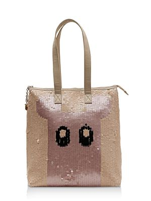 GILES AT KOOVS Sequinned Eek Shopper Bag