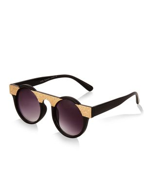 KOOVS Metal Bridge Round Sunglasses
