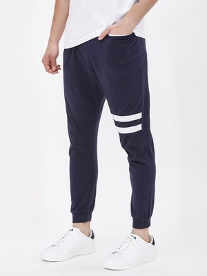 Spring Break Jog Pants With Cut & Sew Stripes