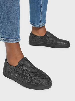 No Doubt Snakeskin Slip-On Skater Shoes