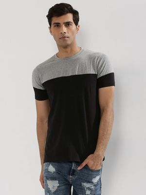 Blotch Dual Tone Panel T-Shirt