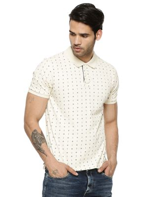 Flying Machine All Over Ditsy Anchor Print Polo Shirt