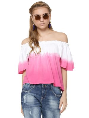 Sbuys Dip Dye Bardot Top