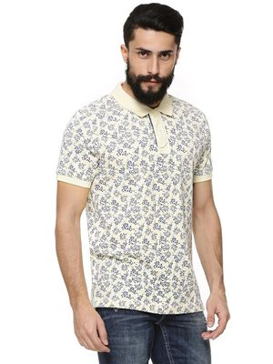 Flying Machine Floral Printed Polo Shirt