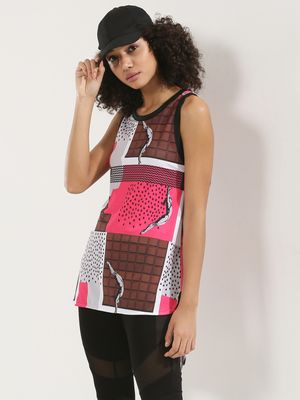 MASABA X KOOVS Chocolate Print Tunic Top