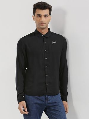 KOOVS Text Embroidered Shirt In The Style Of Harry Styles