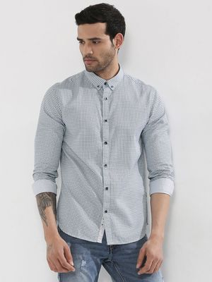 F2000 By Flying Machine Printed Button Down Shirt