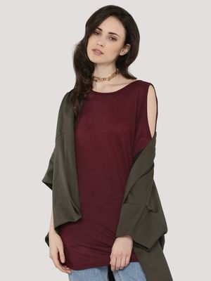 New Look Cold Shoulder Tunic Top