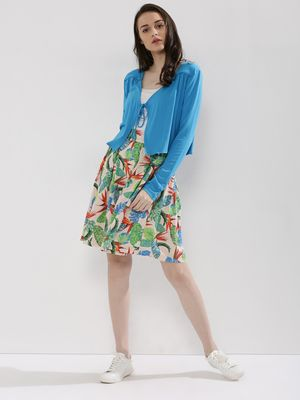 KOOVS Tropical Print Skirt