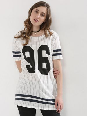 J.D.Y College Print Long Top