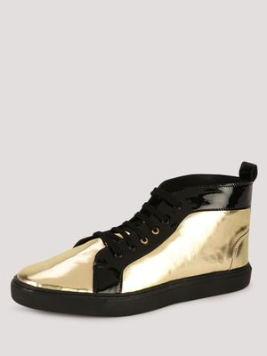 Tread Mid Top Sneakers In Patent