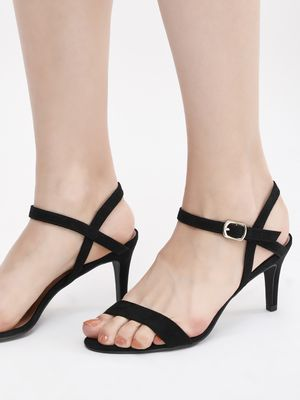 New Look Ankle Strap Mid Rise Heels