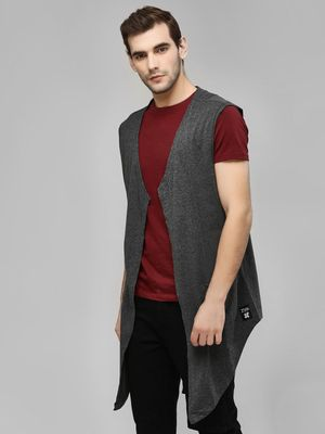 Kultprit Sleeveless Waterfall Cardigan