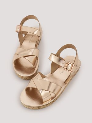 New Look Cross Over Strap Cork Wedges