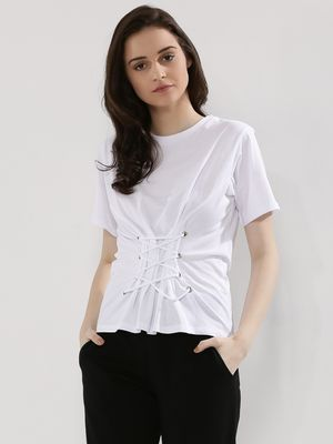 New Look Lace Up Corset T-Shirt