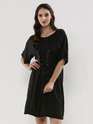 Noble Faith Dress With Corset Waist Tie