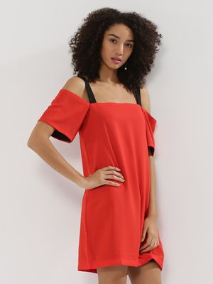 Noble Faith Shift Dress With Contrast Straps