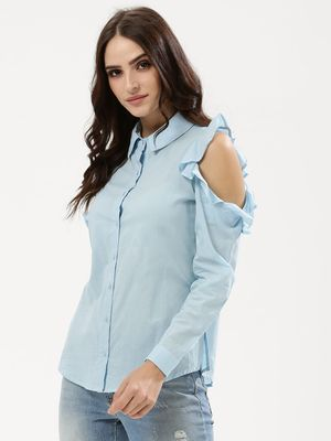 Influence Frill Cold Shoulder Shirt