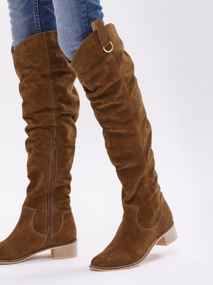 KOOVS Over The Knee Cowboy Boots