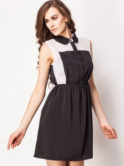 KOOVS Colour Block Chiffon Dress