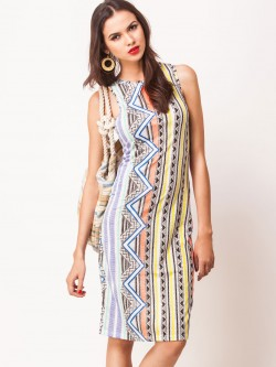 Glamorous Printed Sleeveless Pencil Dress