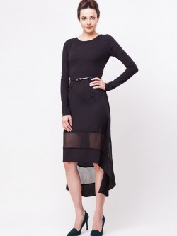 KOOVS High Low Hem Belted Dress
