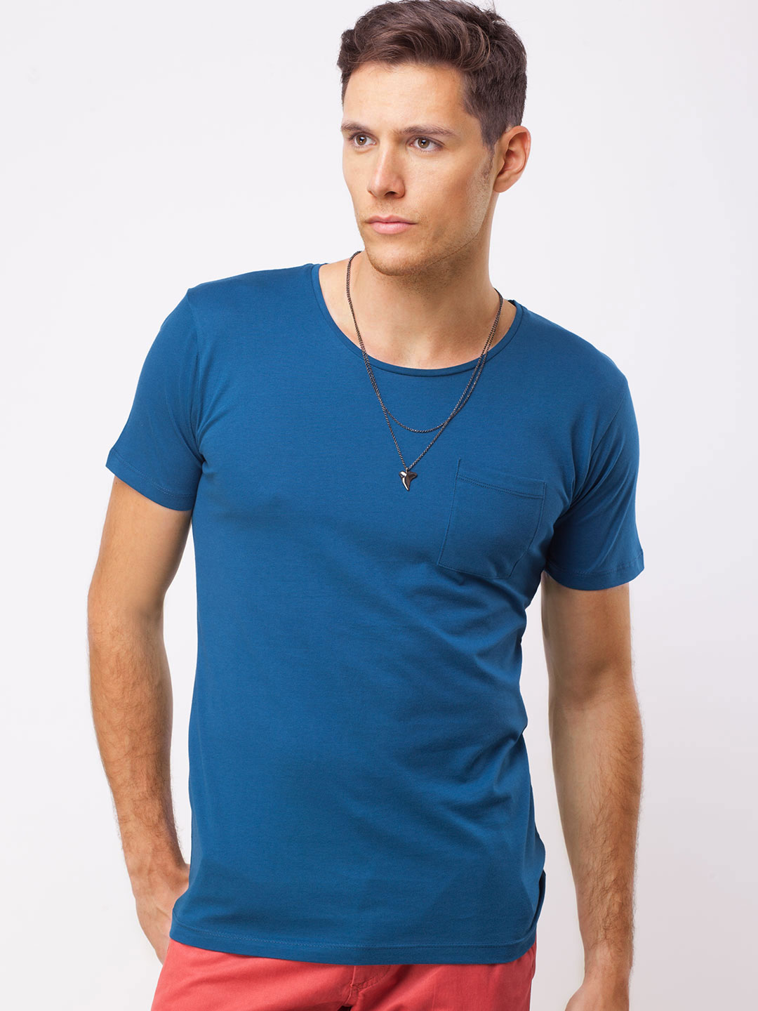 Selected Homme Poseidon Patch Pocket Round Neck T-Shirt 1