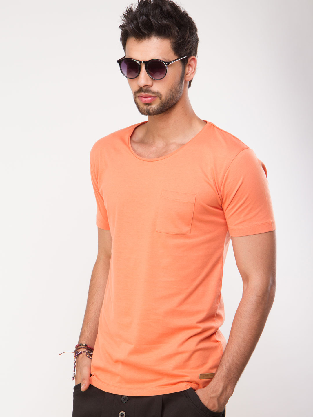 Selected Homme carnelian Patch Pocket Round Neck T-Shirt 1