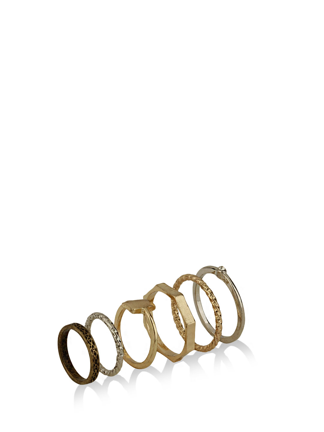 KOOVS Multi Rings  Pack Of 6