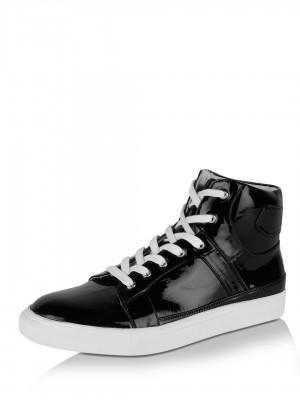 KOOVS Pu Hi-Top Trainers...