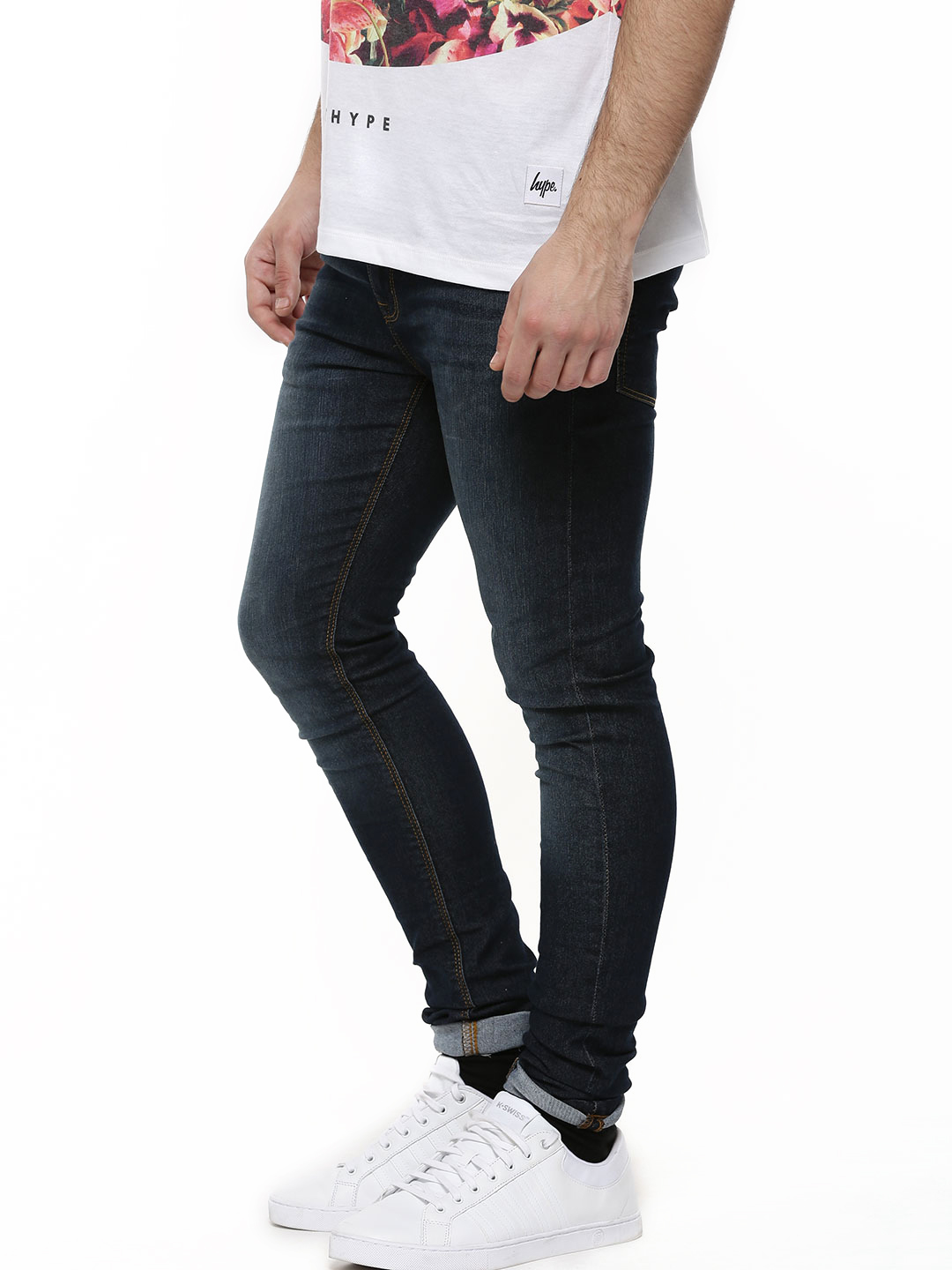 New Look Navy Dark Wash Skinny Jeans 1