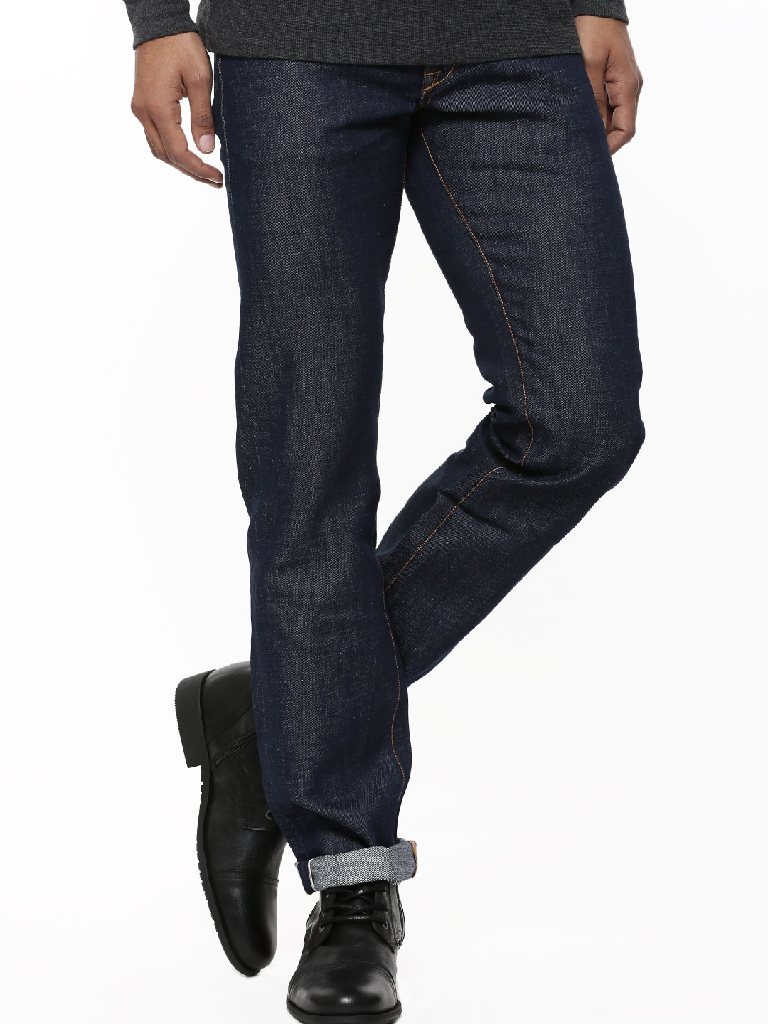 Korra Indigo Nep Straight Fit Raw Selvedge Jeans 1