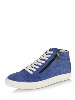 KOOVS Leather Hi-Top Trainers...