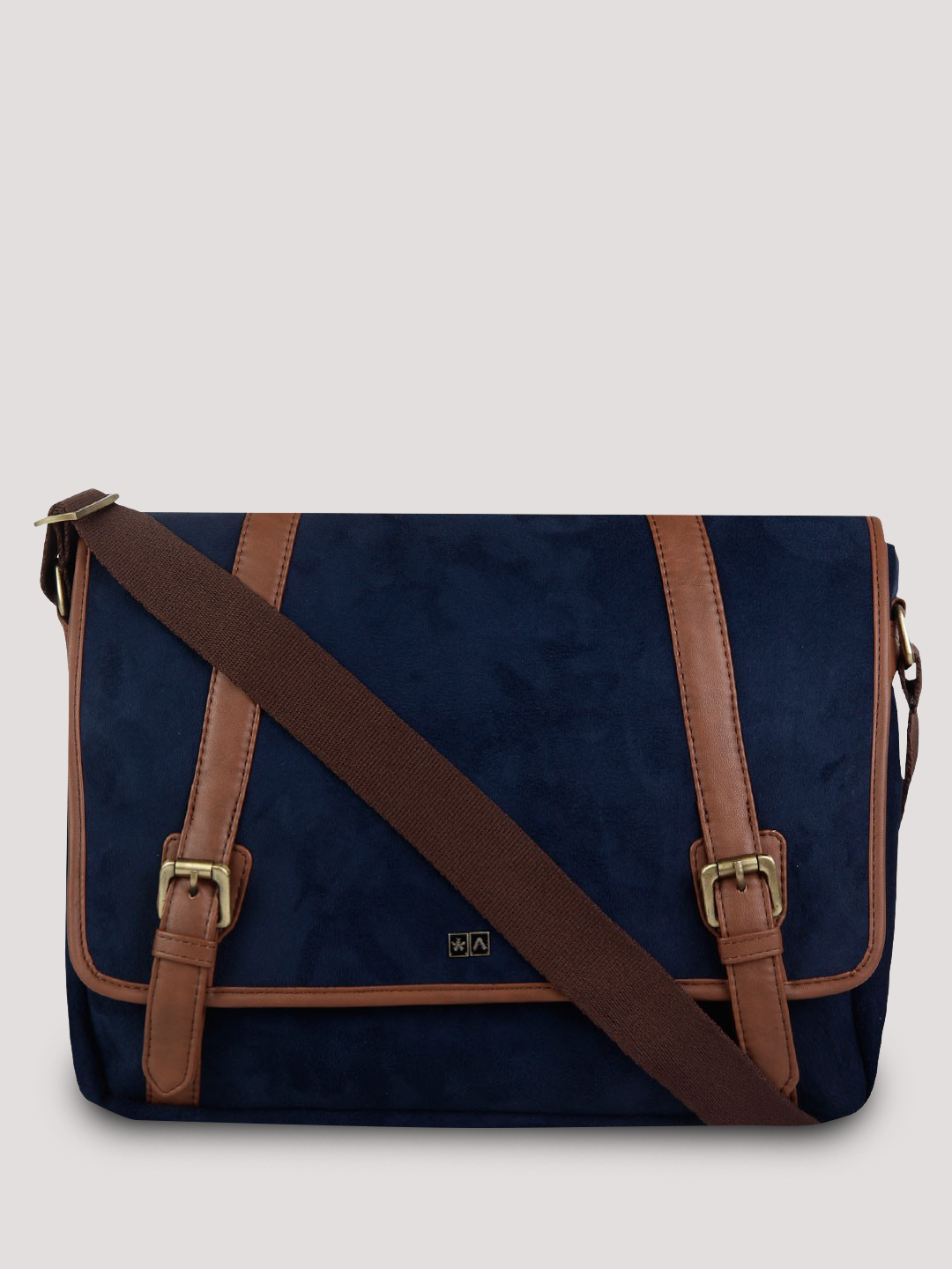 Atorse Suede Messenger Laptop Bag