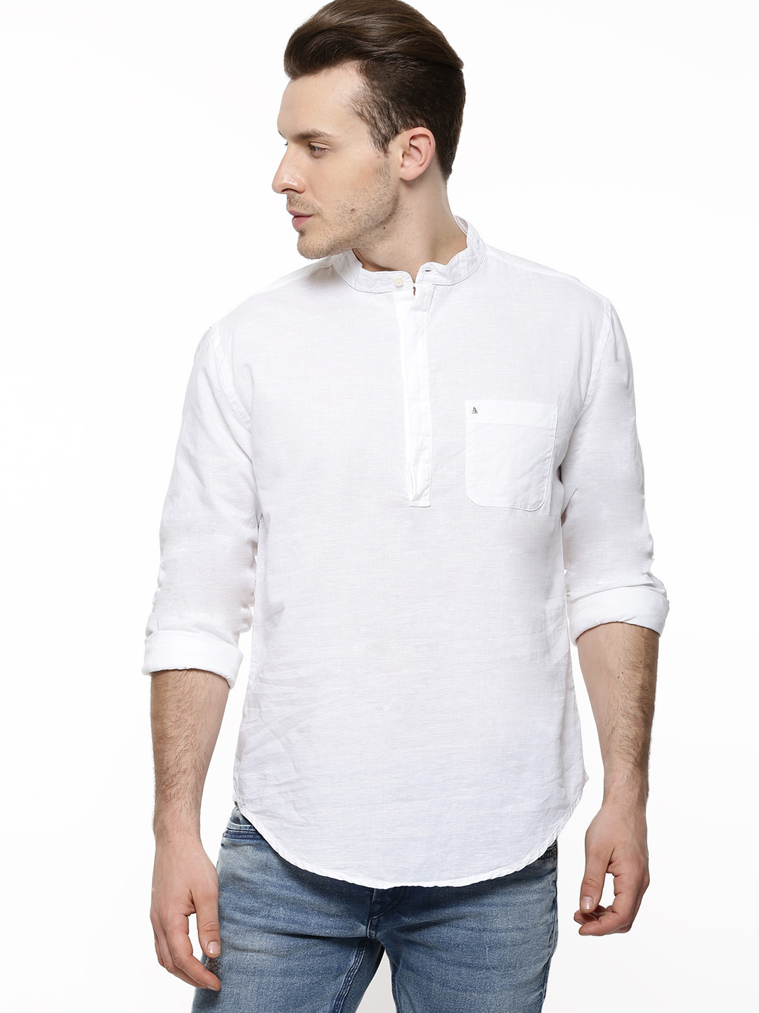 POE Linen Casual Shirt With Ma...