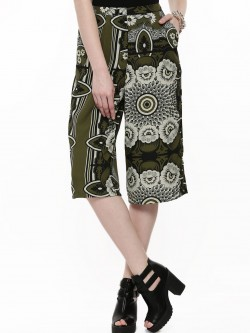 Glamorous Tile Print Culottes