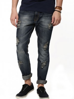 KOOVS Slim Fit Ripped Jeans...