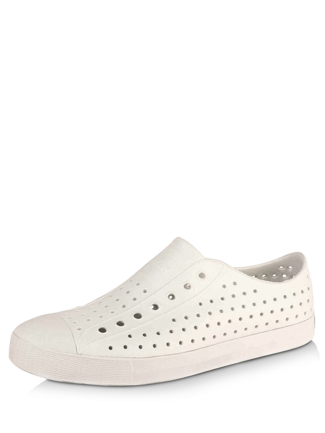 Native Shoes Shell white solid Single Tone Perforated Shoes 1