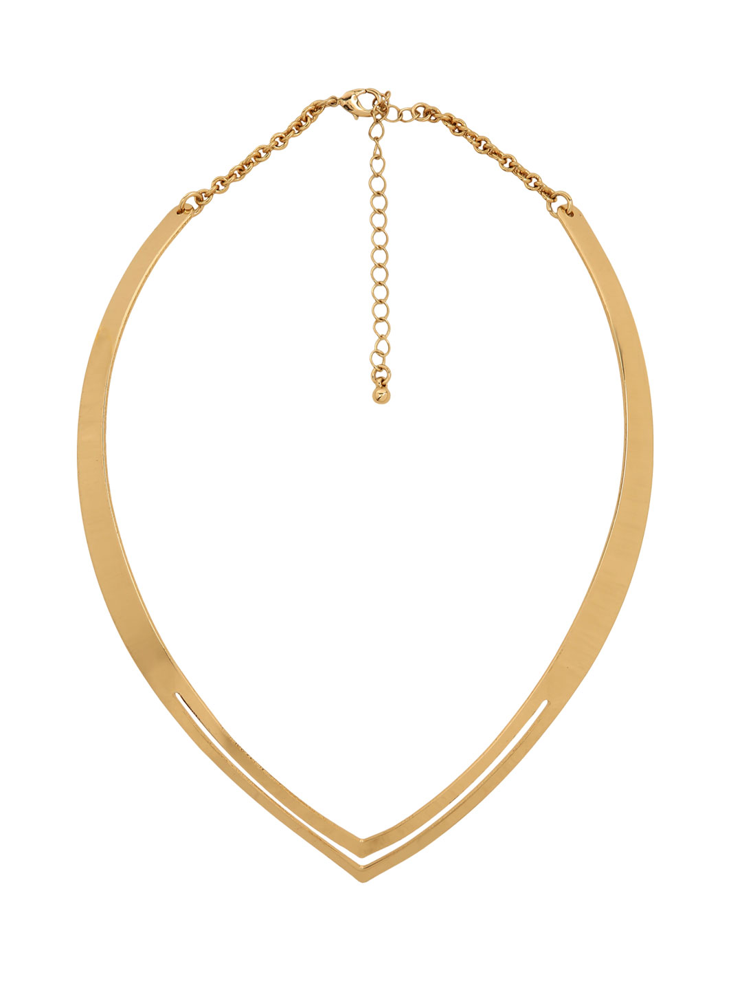 KOOVS Gold Pointed Collar Necklace 1