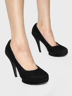 KOOVS Suede Almond Toe Pumps