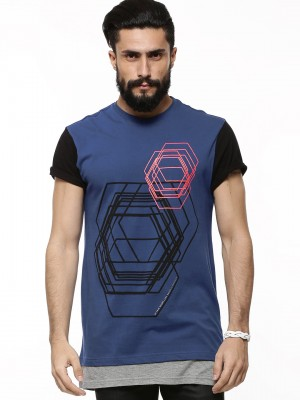 KOOVS Layered Hem T-shirt...
