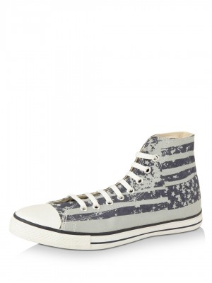 CONVERSE Flag Print Canvas Hig...