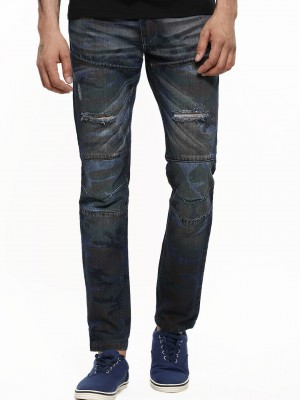 BLUE SAINT Camo Ripped Jeans W...