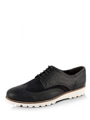 KOOVS Suede & Leather Brogues...