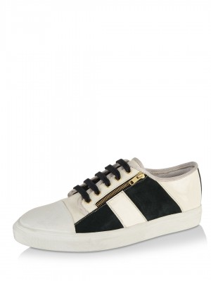 KOOVS Leather Zip Detail Pumps...