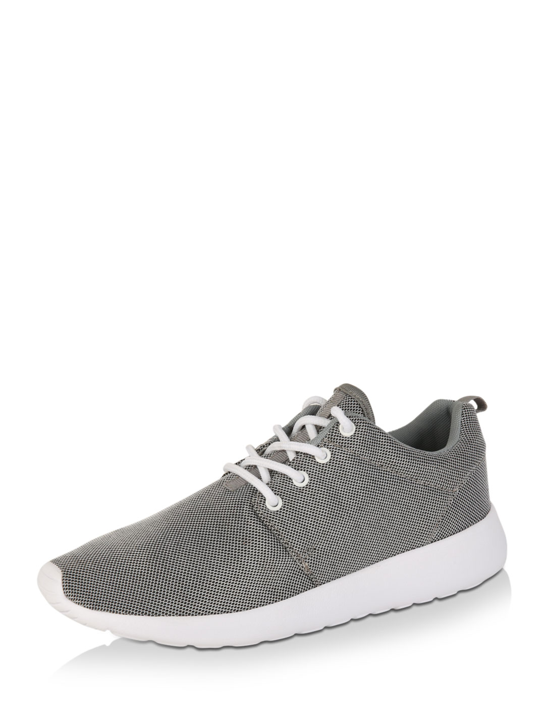 RUSHOUR Grey Two-Tone Knit Trainers 1