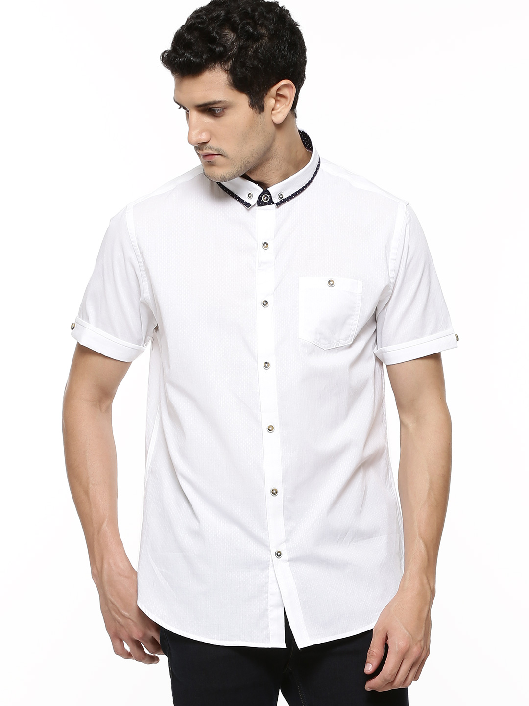 Brave Soul Shirt With Collar D...