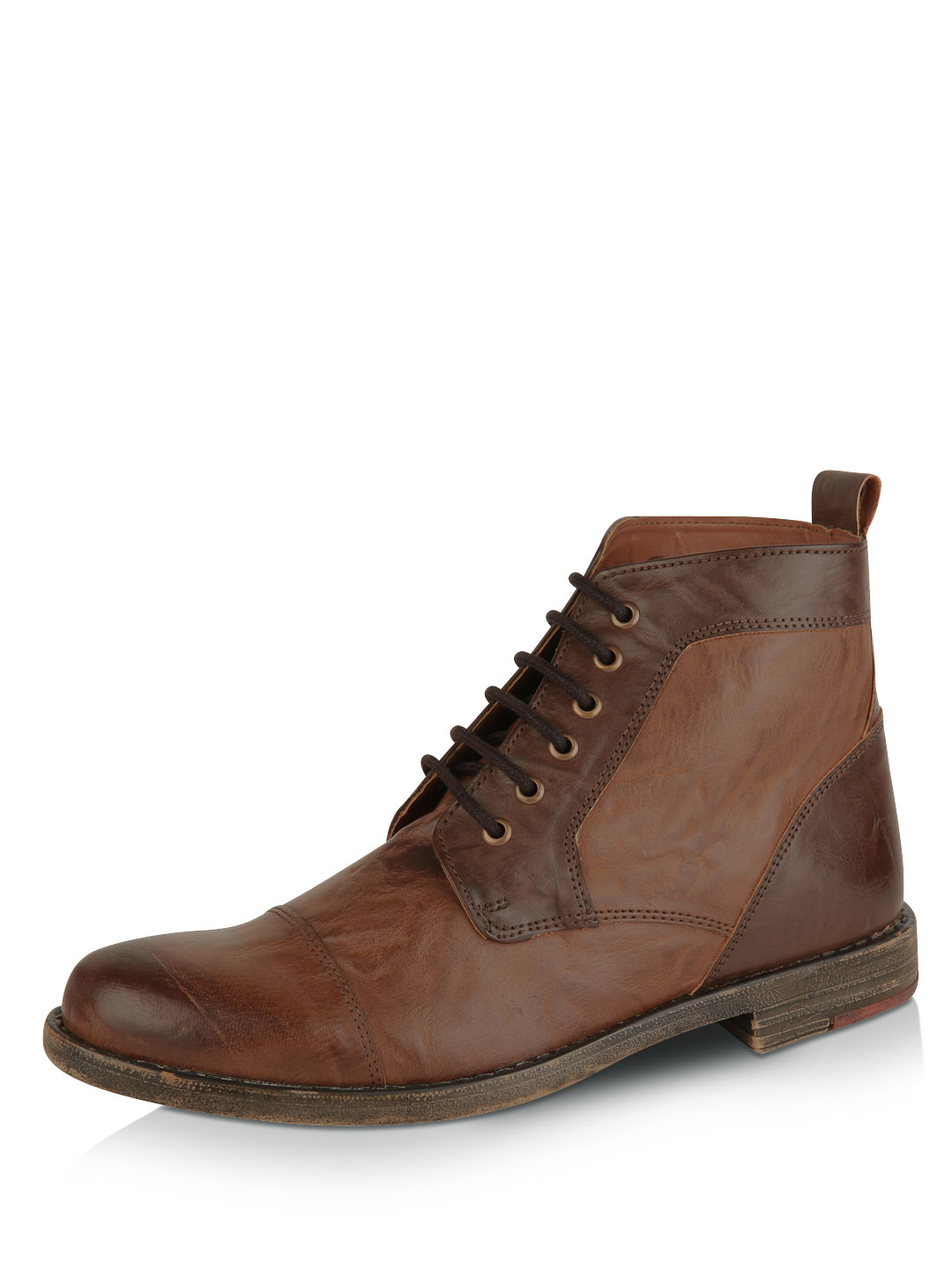 Knotty Derby Camel/Brown Barty Toe Cap Boots 1